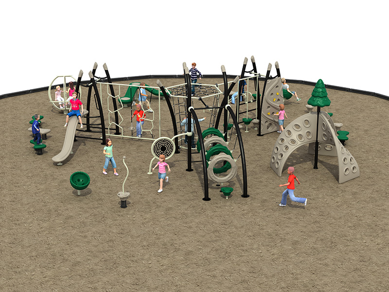 Outdoor gym equipment children play