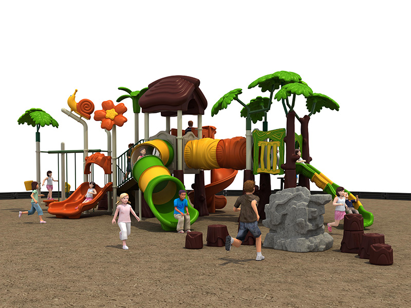 kids tunnel slide playground equipment FY06801