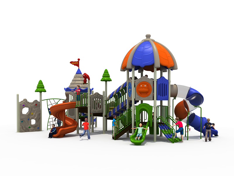 Outdoor playground plastic slide play sets FY05601