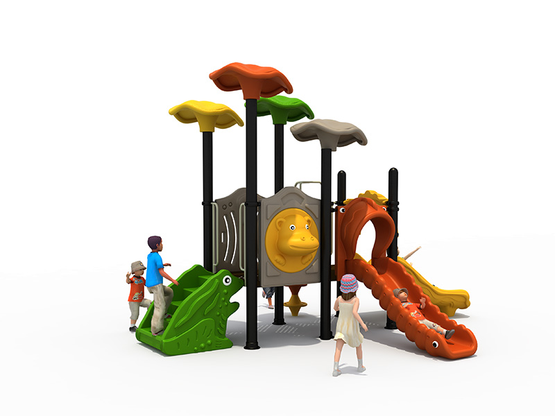 Children outdoor playground tunnel slides FY-07902