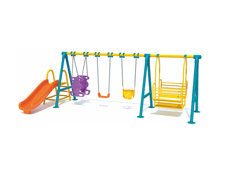 funny children swing with slide
