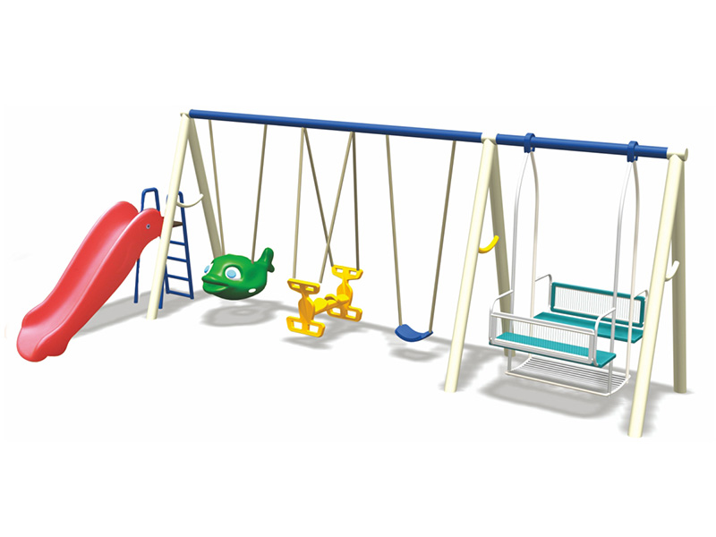 kids multi-swing with slide