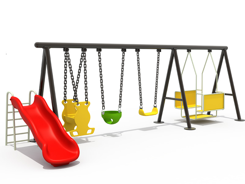 children multi-swing with slide