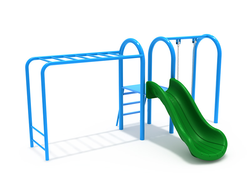 climbing set with slide