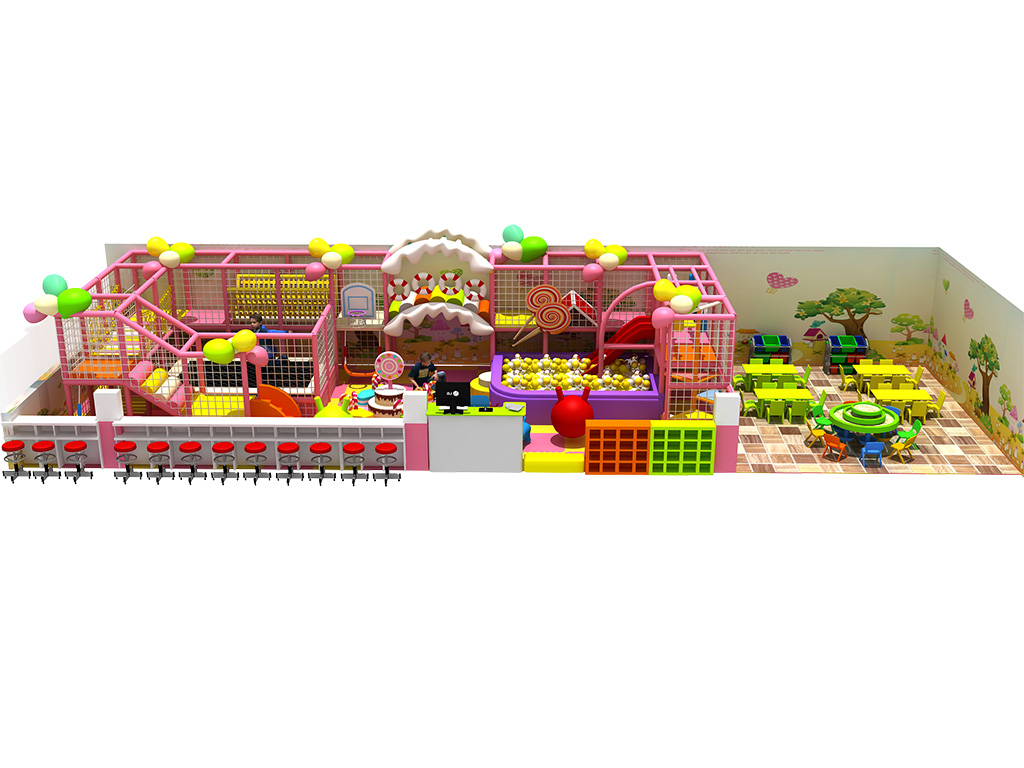 Environmental Candy style indoor playground equipment soft play for kids
