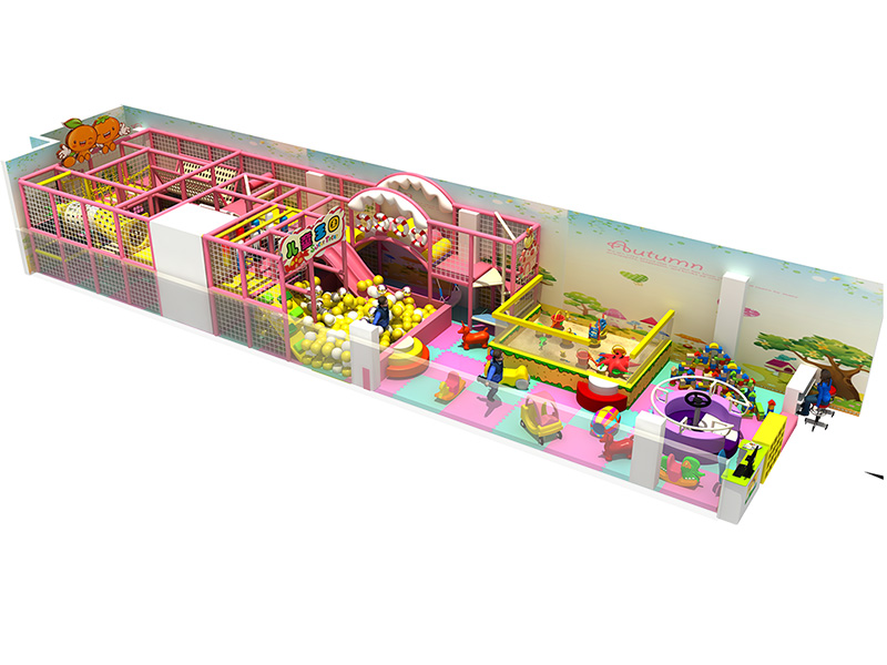 Feiyou Lovely pink kids Indoor playground equipment with slide soft play