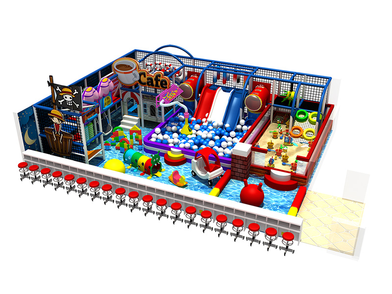Middle size children Indoor playground equipment/soft play with slide for sale