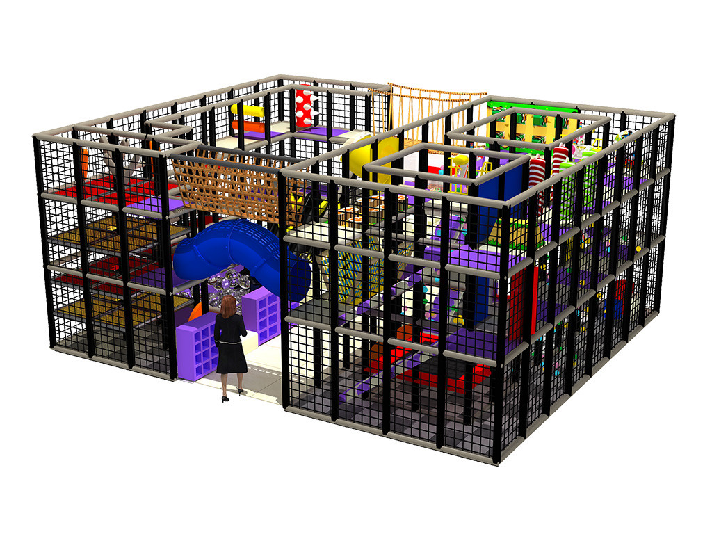Colourful children Indoor playground equipment naughty castle