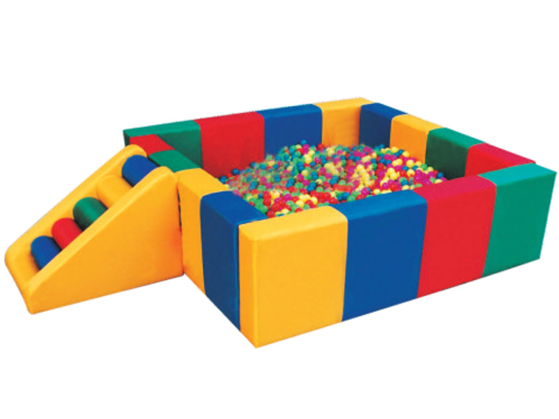 Colorful Children climbing chair soft play with square ball poor