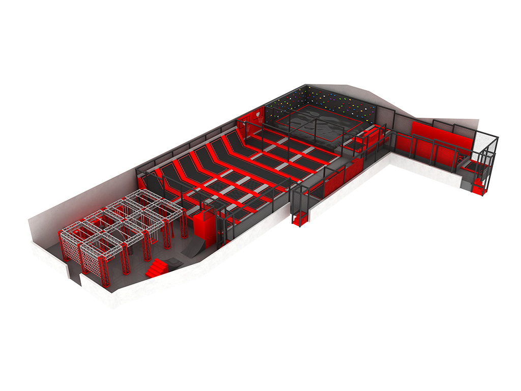 China Verified Supplier Feiyou Amusement Park Indoor Playground Trampoline for Bungee Jumping