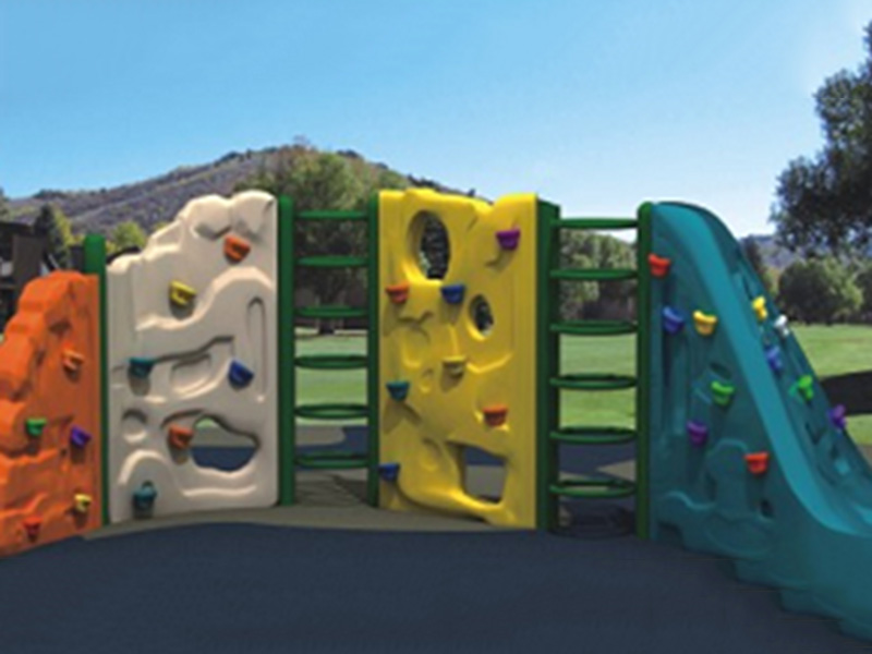 Factory price wholesale plastic kids rock climbing wall