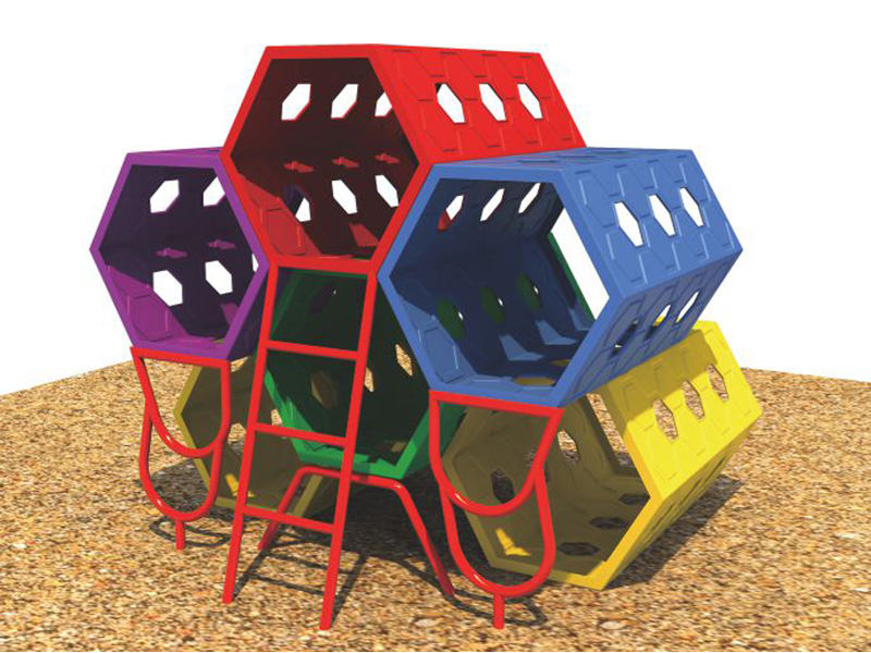 Kids Garden Play Outdoor Child Combination Toys Engineering Plastic Honeycomb Holes Climbing Slide FY15901