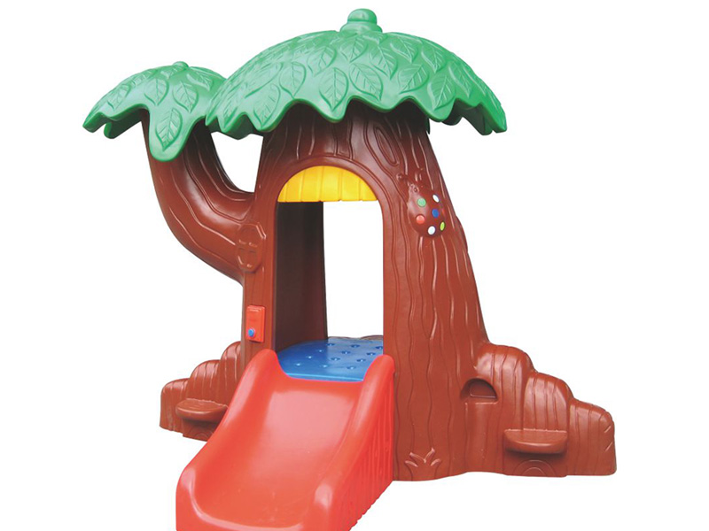 Tree design house with slider for children play indoor playground