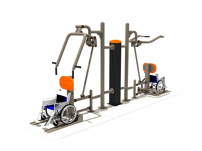 Disabled children exercise Outdoor fitness equipment