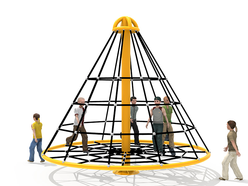 rope climbing structure net playground equipment