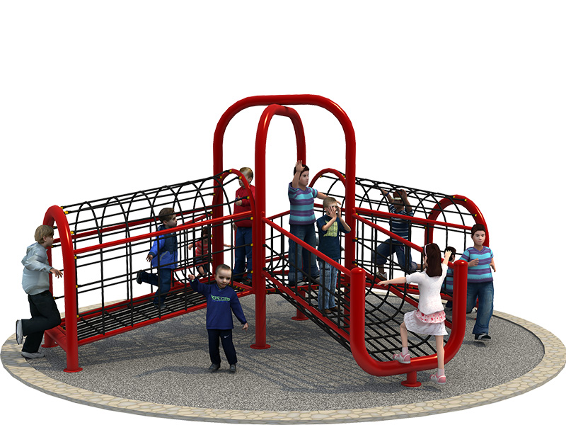 one Shape Outdoor Rope Climbing Structure, Kids Outdoor Playground Cliimbing Net Structure