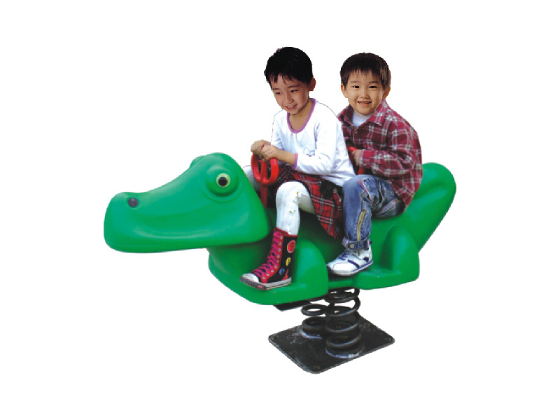 The Double Seat green animal spring rocker