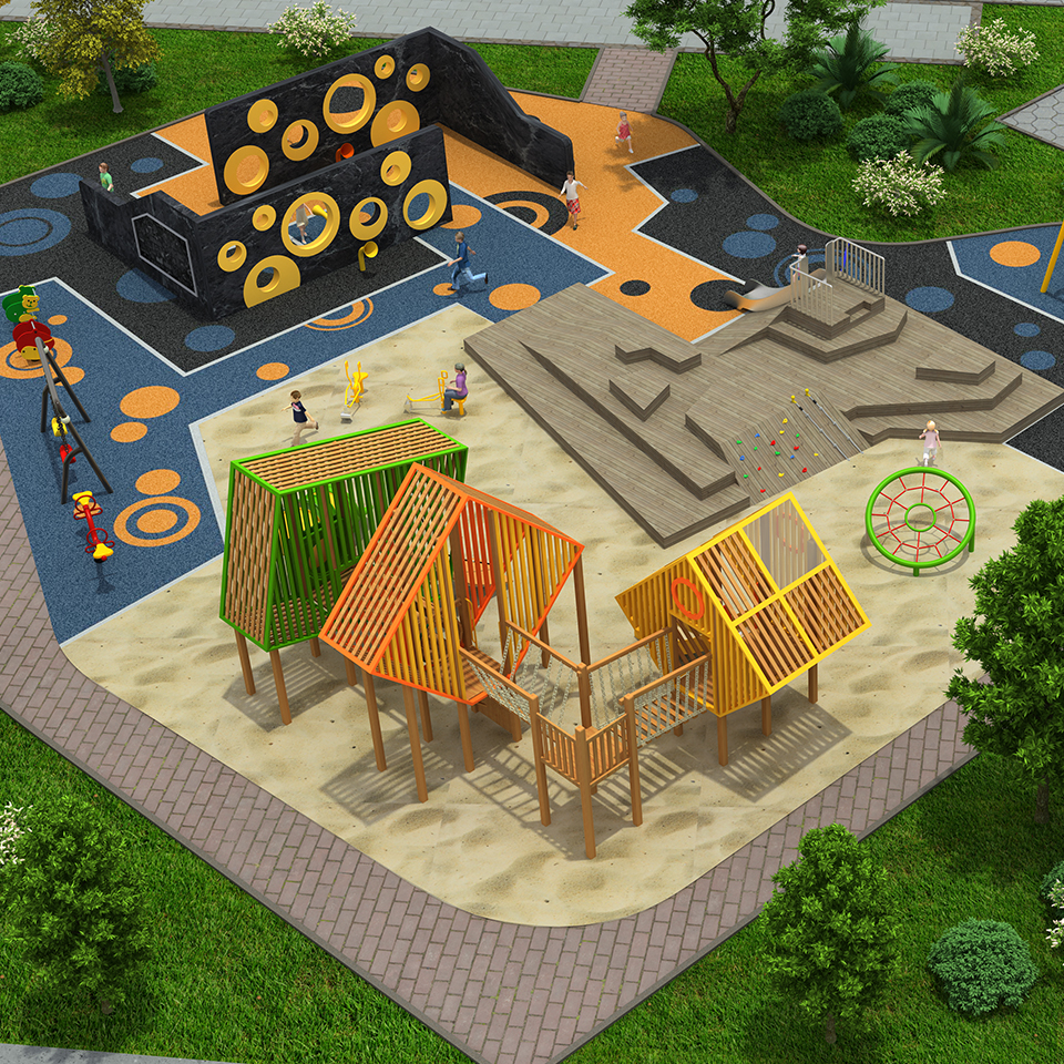 preschool outdoor play equipment whole design
