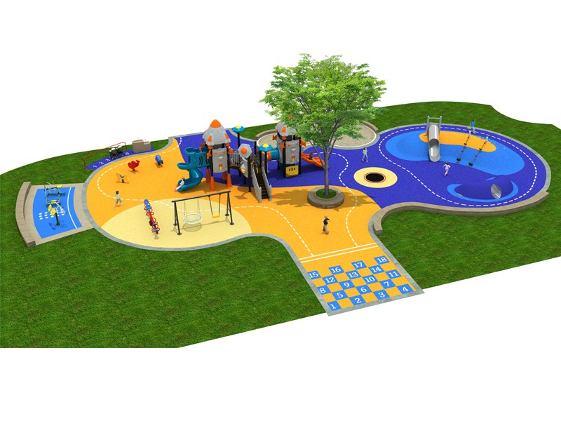 Park outdoor commercial playground in metal material game facilities